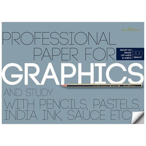 Фото - Папка бумаги для графики Bruno Visconti 29.7 х 21 см (A4), 300 г/м², 10 л. папка для рисования bruno visconti 42 х 29 7 см a3 160 г м² 20 л
