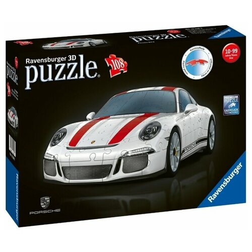 Пазл Ravensburger 3D Porsche 911 (12528), 108 дет. ravensburger 3d пазл ravensburger эмпайр стейт билдинг