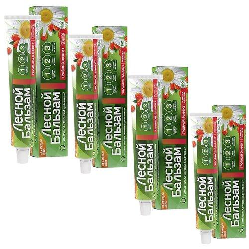 Лесной бальзам Зубная паста Ромашка/облепиха профилактика и свежесть, 75мл (4 шт в наборе)