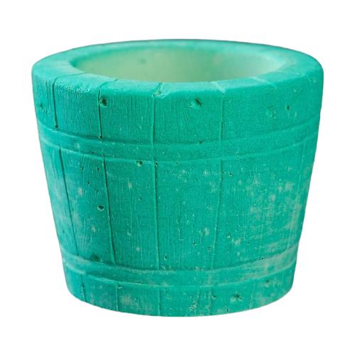 Кашпо Хорошие сувениры Ведерко 8 х 8 х 7 см зеленый
