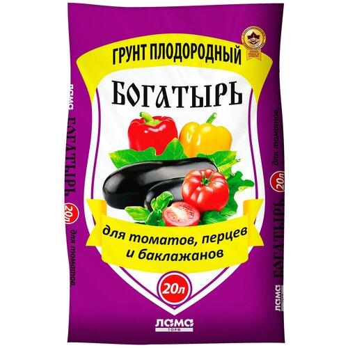 Фото - Грунт ЛамаТорф Богатырь для томатов, перцев и баклажанов 20 л. грунт veltorf premium для томатов и перцев 10 л