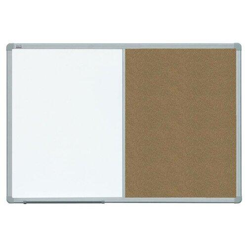 Фото - Доска комбинированная магнитно-маркерно-пробковая 2x3 TCASC129 (90х120 см) белый/коричневый доска пробковая 2x3 60x90cm tc96
