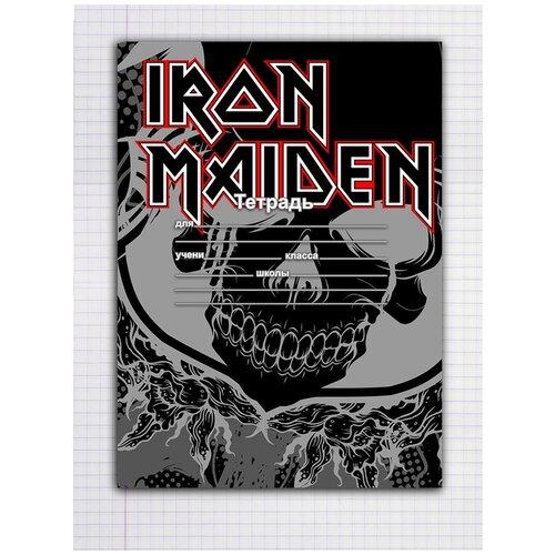 Купить Набор тетрадей 5 штук, 12 листов в клетку с рисунком Iron Maiden череп, Drabs, Тетради