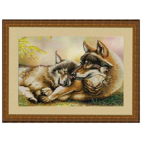 Купить Рисунок на ткани «Конёк» 9797 Пара волков, 29x39 см, Наборы для вышивания