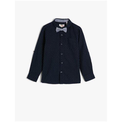 Рубашка KOTON размер 7-8 лет (122-128), темно-синий