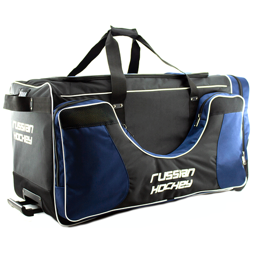 Баул хоккейный BITEX 24-975/1 сумка спортивная на колесах черно-синий полиэстер