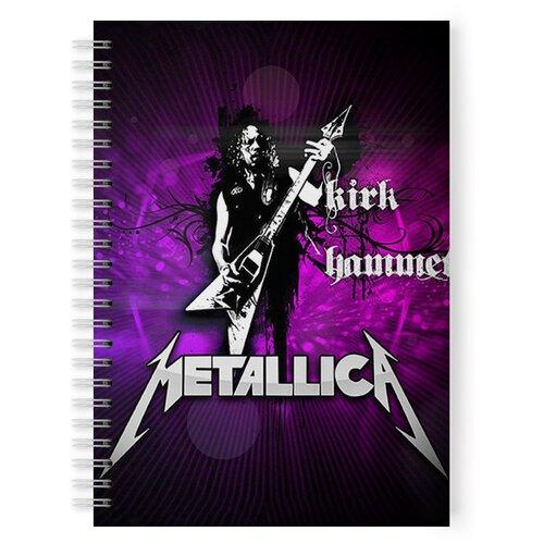 Купить Тетрадь 48 листов в клетку с рисунком METALLICA Kirk Hammett, Drabs, Тетради
