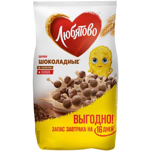 Фото - Готовый завтрак Любятово Шарики шоколадные, пакет, 500 г готовый завтрак хрутка шоколадные колечки пакет 210 г