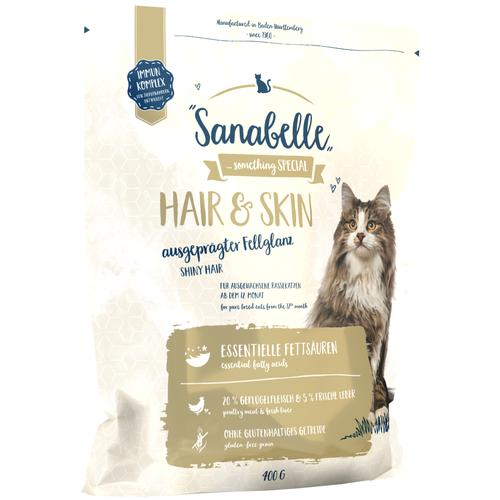 Фото - Сухой корм для кошек Sanabelle для здоровья кожи и блеска шерсти 400 г sanabelle sanabelle snack полувлажное лакомство для кошек для улучшения пищеварения с сайдой и инжиром 55 г