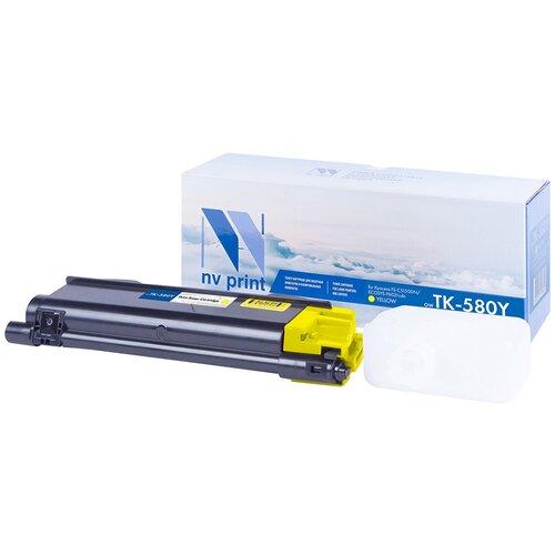 Фото - Картридж NV Print TK-580 Yellow для Kyocera, совместимый картридж nv print tk 895 yellow для kyocera совместимый