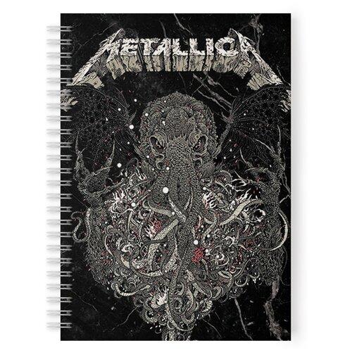 Купить Тетрадь 48 листов в клетку с рисунком Metallica Спрут, Drabs, Тетради