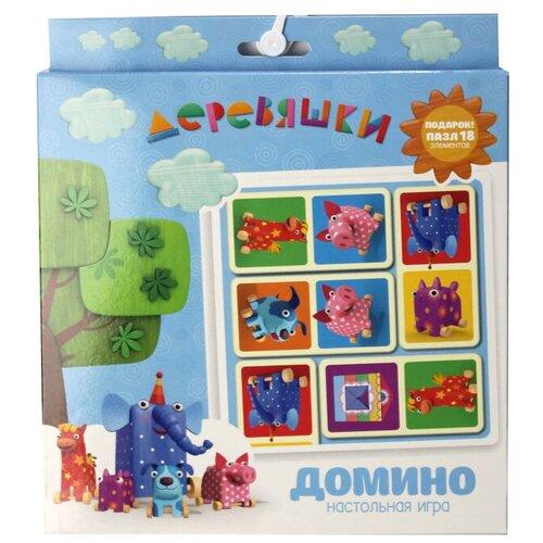 Настольная игра Origami Деревяшки. Домино+пазл настольная игра домино пазл для малышей для девочек