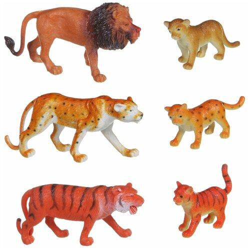 Фото - Фигурки BONDIBON Ребятам о зверятах - Дикие животные с детёнышами ВВ1605 фигурки bondibon ребятам о зверятах домашние животные вв1637
