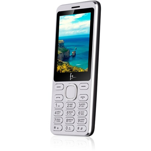 Телефон F+ S286 серебристый/черный