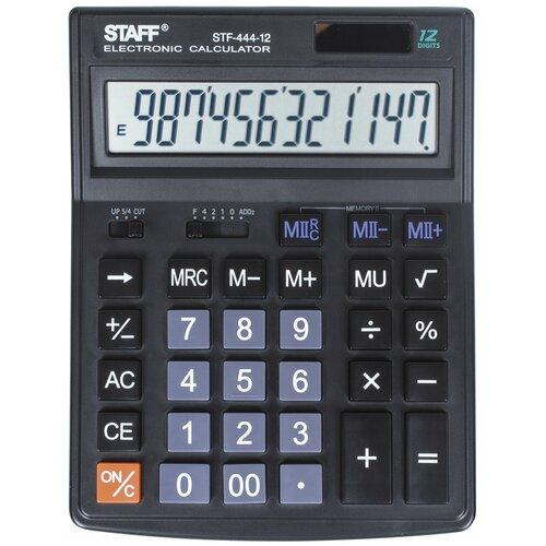Калькулятор настольный STAFF STF-444-12 черный