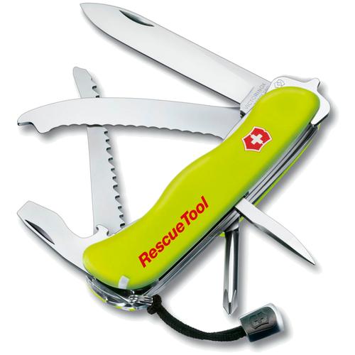 Нож многофункциональный VICTORINOX Rescue Tool (0.8623.N) с чехлом желтый