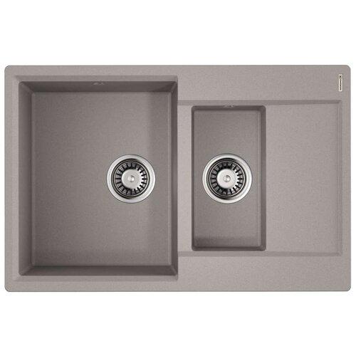Врезная кухонная мойка 78 см OMOIKIRI Daisen 78-2 ленинградский серый
