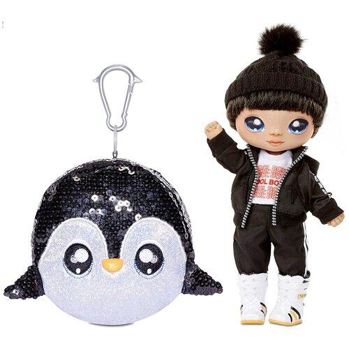 Кукла Na! Na! Na! Surprise Сверкающая серия 1 Penguin Boy Andre Avalanche, 22 см, 573784 недорого