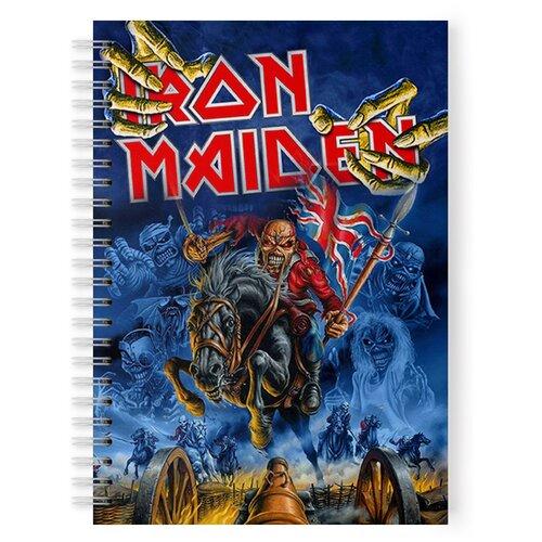 Купить Тетрадь 48 листов в клетку с рисунком Iron Maden, Drabs, Тетради