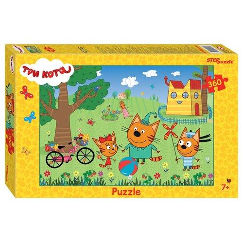 Пазл Step puzzle Три кота (96091), 360 дет. пазл step puzzle король лев 96079 360 дет