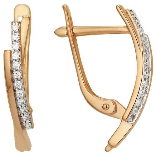 Сорокин Золотые серьги с фианитами 40160500