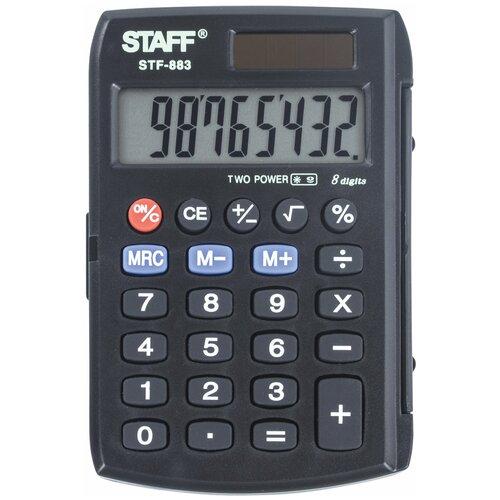 Калькулятор карманный STAFF STF-883 черный