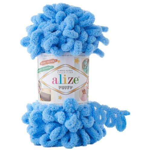Купить Пряжа для вязания Alize 'Puffy' 100г 9м (100% микрополиэстер) (289 синий), 5 мотков