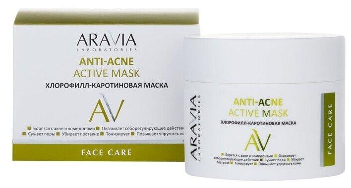 Купить Aravia Laboratories Хлорофилл-каротиновая маска ANTI-ACNE ACTIVE MASK, 100 мл по низкой цене с доставкой из Яндекс.Маркета