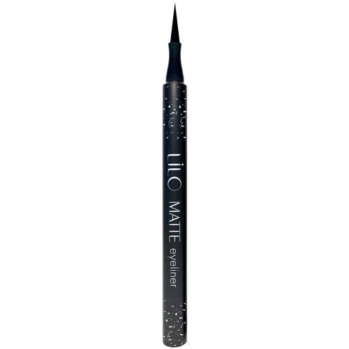 Lilo Подводка-фломастер для глаз Matte Liner, оттенок черный матовый