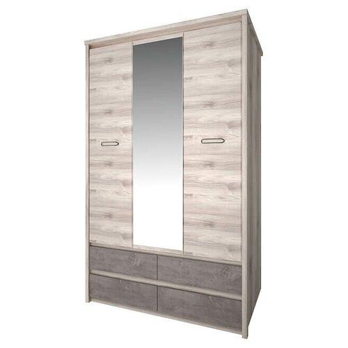 Фото - Шкаф для спальни Anrex Jazz 3DG4S Z, (ШхГхВ): 126.6х59.3х210 см, каштан найроби/оникс шкаф jazz 4dg2s z
