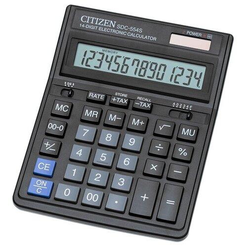 Калькулятор бухгалтерский CITIZEN SDC-554S черный