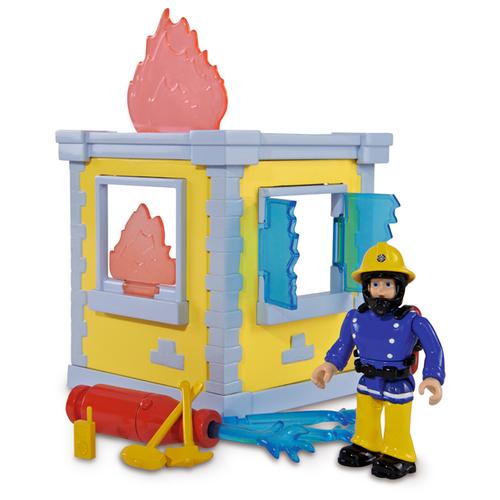 Фото - Маленькая тренировочная пожарный СЭМ база+1 фигурка, 14см. 9251052 гидроцикл dickie toys пожарный сэм джуно с фигуркой и аксессуарами 9251662 красный желтый