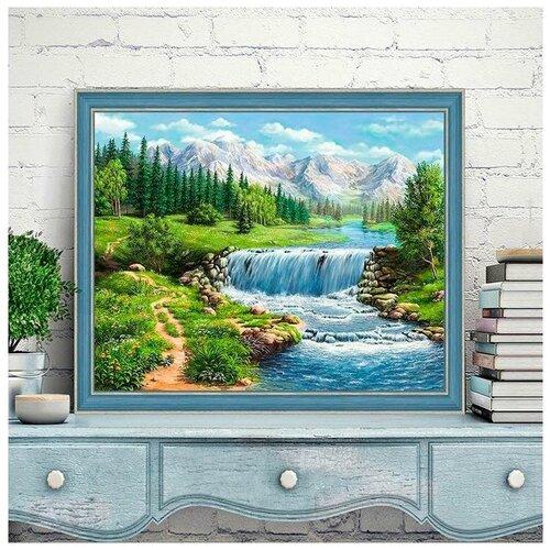 Купить Алмазная вышивка Алмазная Живопись Полдень у реки , 50x40, Алмазная живопись, Алмазная мозаика