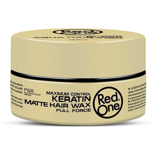 RedOne Матовый воск для волос ультрасильной фиксации с кератином Matte Hair Wax KERATIN, 150 мл