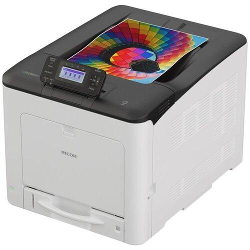 Фото - Принтер Ricoh SP C360DNw, серый/черный принтер лазерный ricoh sp c261dnw