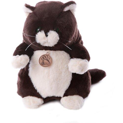 Мягкая игрушка Толстый кот 33см горький шоколад