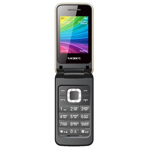 Телефон teXet TM-204 золотистый