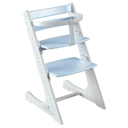 Купить Растущий регулируемый стул Конёк Горбунёк КОМФОРТ в комплекте с ограничителем, бело-небесный , Конек Горбунёк, Стульчики для кормления