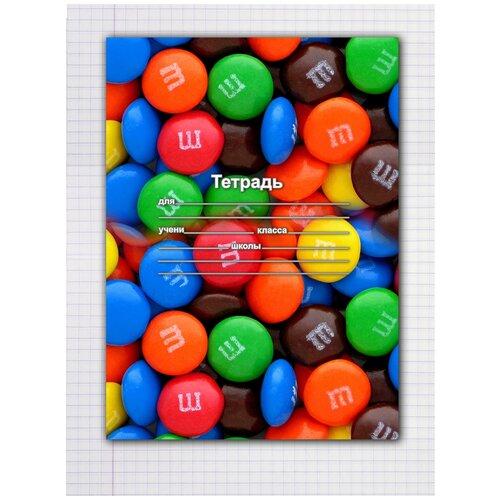 Купить Набор тетрадей 5 штук, 12 листов в клетку с рисунком М&M, Drabs, Тетради