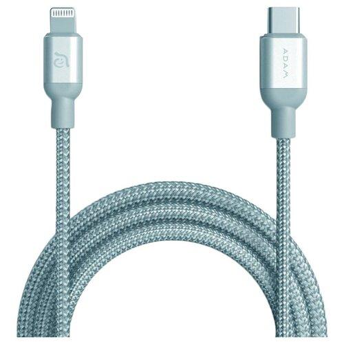 Кабель Adam Elements PeAk II USB-Type C - Lightning MFI (C120B) 1.2 м, серебристый недорого