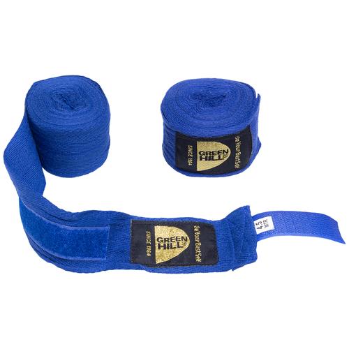 Бинт боксерский BC-6235d, хлопок, 4,5 м, синий