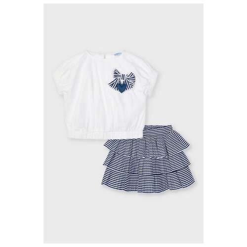 Купить Комплект одежды Mayoral размер 128, синий, Комплекты и форма