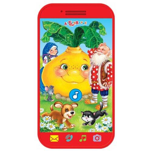 Купить Интерактивная развивающая игрушка Азбукварик Мини-смартфончик Репка, красный, Развивающие игрушки