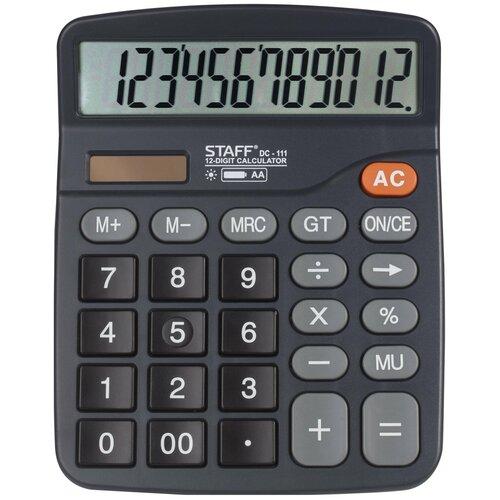 Калькулятор бухгалтерский STAFF PLUS DC-111 черный