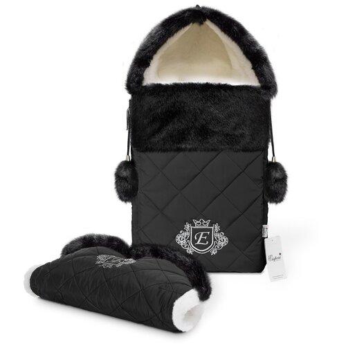 Комплект Esspero Elvis (конверт + муфта) 65 см black конверты для новорожденных esspero зимний конверт и муфта elvis