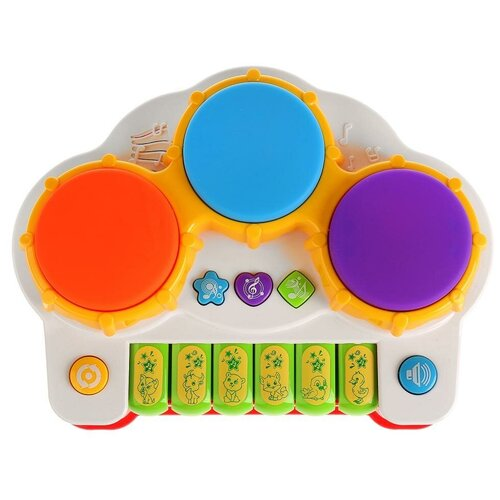 Интерактивная развивающая игрушка Умка Музыкальный барабан (B1298815-R), разноцветный