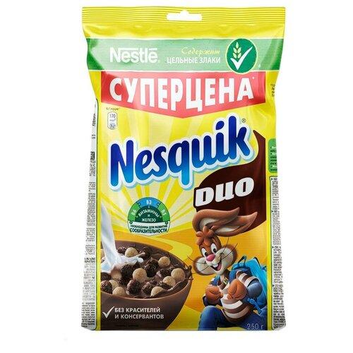 Фото - Готовый завтрак Nesquik DUO шоколадные шарики, пакет, 250 г готовый завтрак tsakiris family лепестки шоколадные коробка 250 г