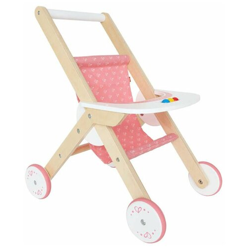 Фото - Прогулочная коляска Hape E3603 бежевый/розовый/белый прогулочная коляска babyhit allure бежевый серый