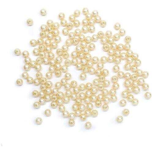 Купить Бусины круглые, пластик, 5 мм, упак./25 гр., 'Астра' (005 NL), Astra & Craft, Фурнитура для украшений