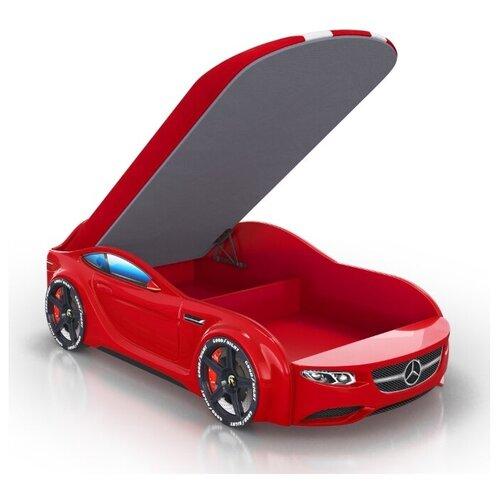 Кровать Romack Junior AMG красная 150*70 +подсветка дна и фар +ящик +фирменная обшивка матраса